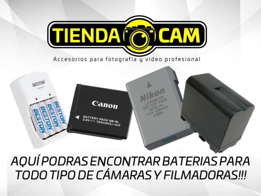BATERIAS PARA TODO TIPO DE CÁMARAS Y FILMADORAS