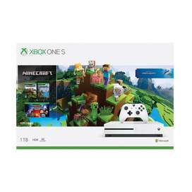 Xbox One S 1tb 4k Wifi Hdr combo Mine Craft Juego y 3 Expansione Nueva