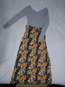 Falda y camiseta, talla S