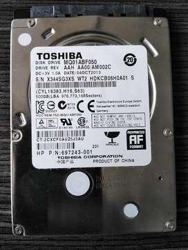 Disco Duro 500gb Toshiba para Portátil