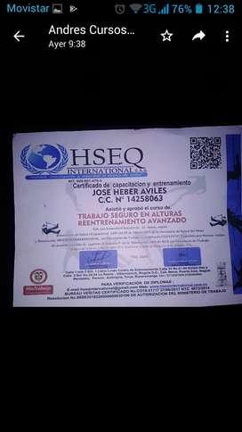 certificado en alturas