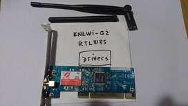 Placa De Red Wireless Encore 802.11g Enlwi-g2 C/antena Largo