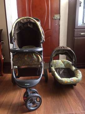 coche de bebe usado + portabebe