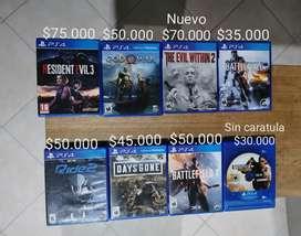 Juegos PS4 en perfecto estado