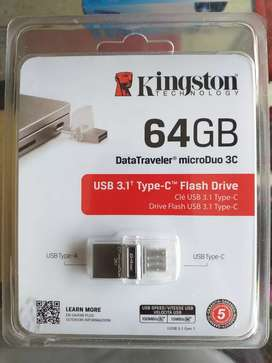 Pendrive Dual USB-A USB-C de 64 GB Kingston DataTraveler microDuo 3C