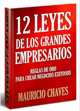 12 LEYES DE LOS GRANDES EMPRESARIOS, por Mauricio Chaves, son Reglas de oro para crear negocios exitosos