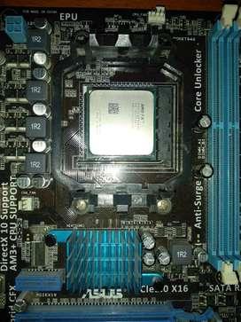 Combo board, procesador y ram