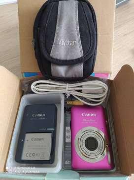 Vendo cámara Canon PowerShop ELPH 100 HS Rosada. Excelente precio y estado.