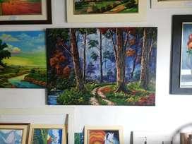 Cuadro de paisaje de árboles