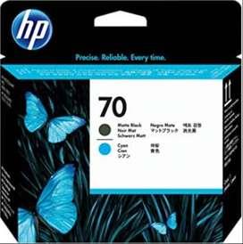 Cabezal de impresión DesignJet HP 70 negro mate y cian para DesignJet Z2100, Z5200, Z5400 - C9404A WIDEIMAGEPRINTERS