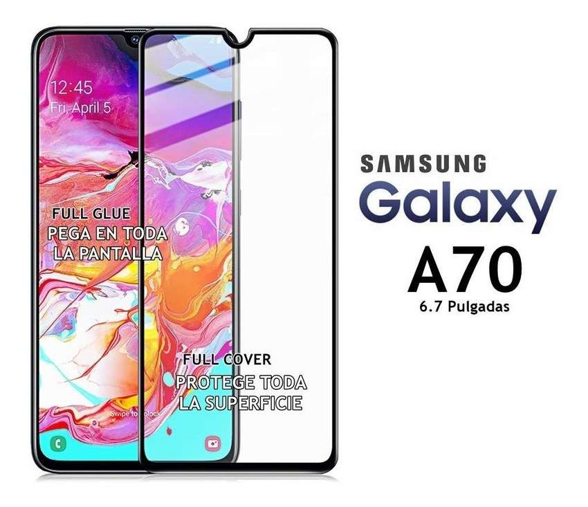 Vidrio templado Glass Full Cover A70 p/ Samsung 0