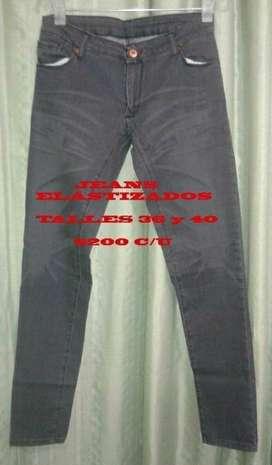 Jeans semi elástizados