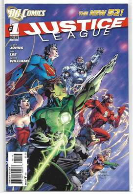 Conjunto de Revistas(comics) Justice League #1-6, 2011, en inglés