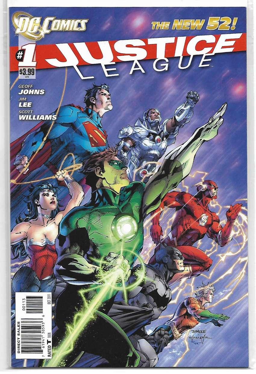Conjunto de Revistas(comics) Justice League #1-6, 2011, en inglés 0