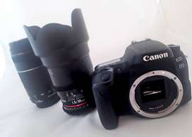 Combo Canon 77D 35mm 754 -300mm