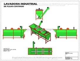 Lavadora Industrial 5000 Litros Plastico Planos Fabricacion