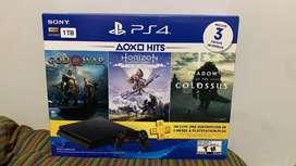 Playstation 4 1TB Nuevo sellado + 3 juegos + 3 meses PSPlus