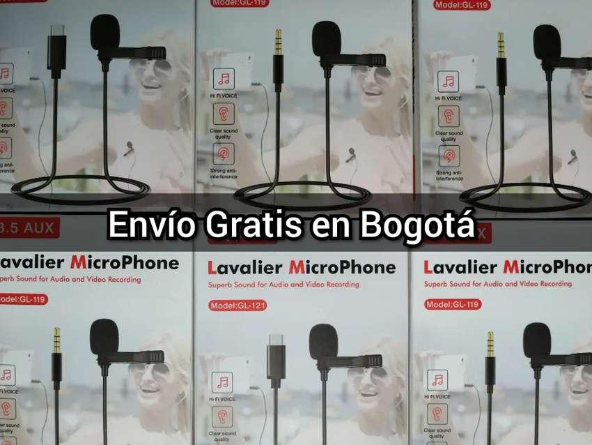 MICRÓFONO SOLAPA LAVALIER ENTRADA 3.5 O TIPO C