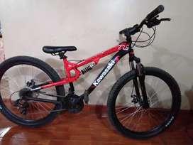 Bicicleta Kawasaki Shimano 27.5 Aluminio