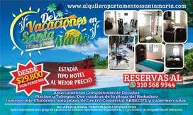 Apartamento Santa Marta Rodadero, Arriendo Alquiler por Dias