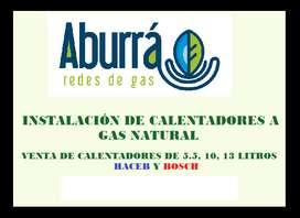 Calentadores a gas Venta e Instalación