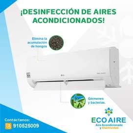 Desinfección de aire acondicionado