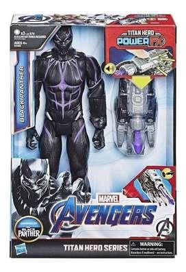 Black Panther Avengers Pantera Negra con Fraces y Sonidos mas lanzador
