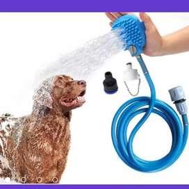 Ducha Mascotas Con Manguera y Cepillo