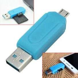 Lector Memoria Sd/Android 4en1 Adaptador USB Otg