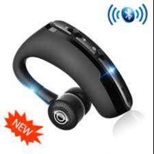 Audífono Inalámbrico Bluetooth Con Micrófono Led Negro V9