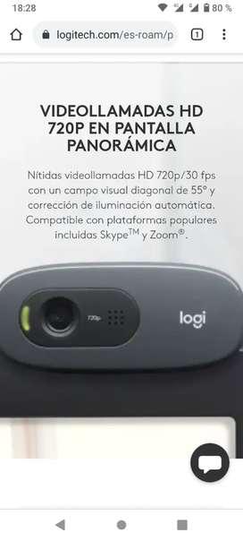 Cámara Web Logitech c270 HD 720p con micrófono