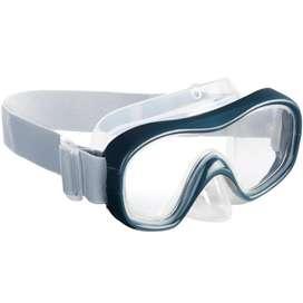 Careta De Snork, máscara buseo SNK 500 Gris Lente de policarbonato irrompible para ofrecer mayor seguridad.