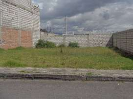 VENDO TERRENO DE 269 m2 CDLA. PATRIA, LATACUNGA