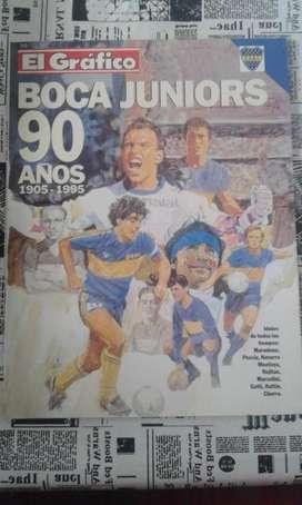 Revista El Gráfico Boca Juniors 90 Años 1905 1995 Extra Nº 88