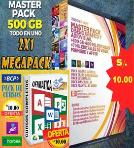MEGA PACK OFFICE/DISEÑO A SOLO S/.10. 00