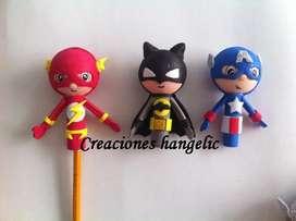 Super heroes y mas personalizados para tu lapiz en foamy