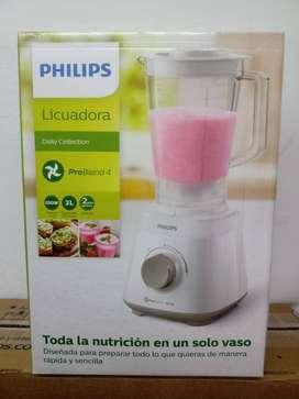 NUEVA Licuadora Philips Daily Collection HR2129 2 L blanca con jarra de plástico 220V
