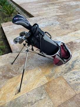 Talega de golf us kids golf uL 60 para niños de alrededor de estatura 1 metro con 5 cm  en excelentee condiciones