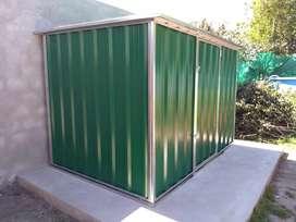 Armario galpón de jardín 3x2x2 a dos aguas
