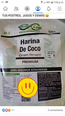 HARINA DE COCO 100% NATURAL