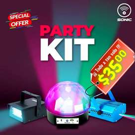 Juego luces led kit combo dj. Sonic