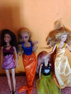 4 preciosas muñecas Barbie mattel divinas 6.000