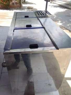 Congelador en asero