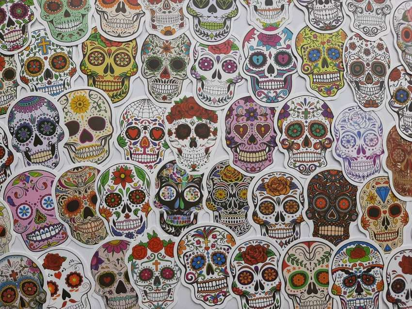Calcomanìas - Stickers  Calaveras 0