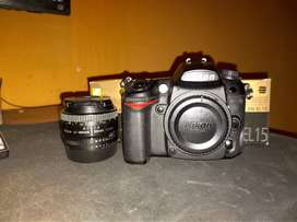 Nikon D7000 como nueva + Lente nikon 50mm 1.8 + 2 baterias