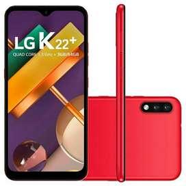 LG K22 PLUS 3GN 64GB 6.22 HD MAQUINON pagalo en 12/18 con tarjeta local nueva Córdoba y Villa Carlos paZ!