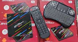 tv box 32gb + teclado mini
