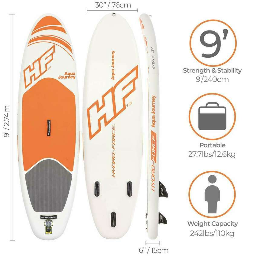 Tabla Stand Up Inflable Paddle Board Aqua Journey Bestway 0