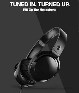 SKULLCANDY RIFF ONEAR WIRED BLACK