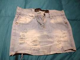Mini falda de jeans